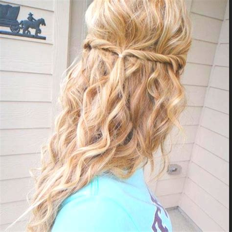 cute hairstyles pulled back curly hair with the front strands pulled back cute and