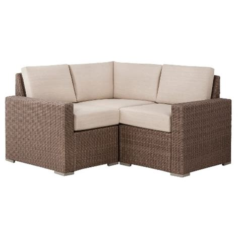 target outdoor sectional heatherstone 3 piece wicker patio sectional sea target