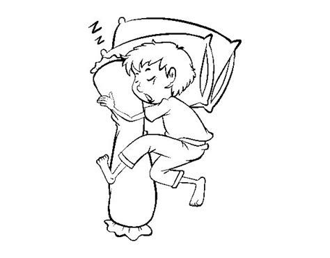 coloring page boy sleeping sleeping little boy coloring page coloringcrew com