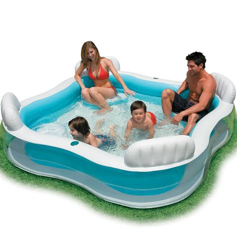 intex pool with seats intex swimming pool backrest with seat family