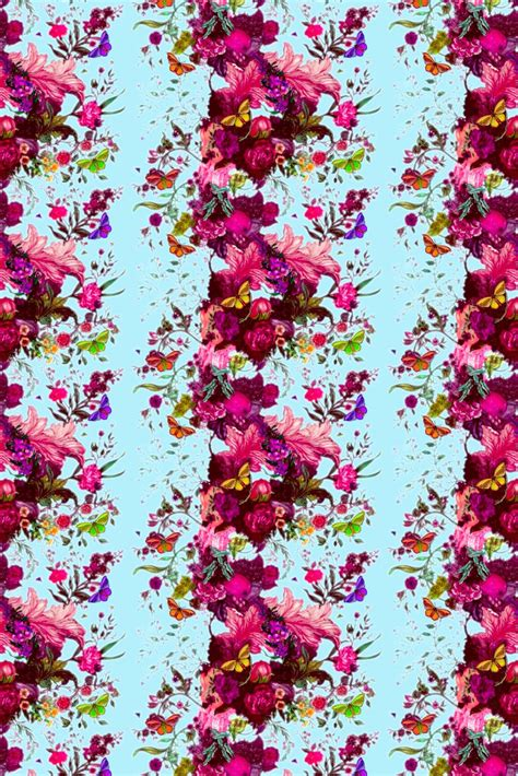 Home Design Modern Style by Timorous Beasties Wallcoverings Butterfly Blurr Wallpaper