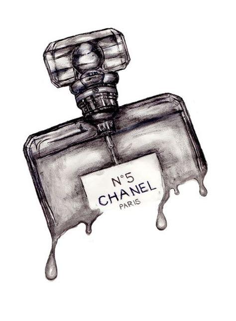 Parfum Merk Chanel portfolio tekeningen illustration chanel