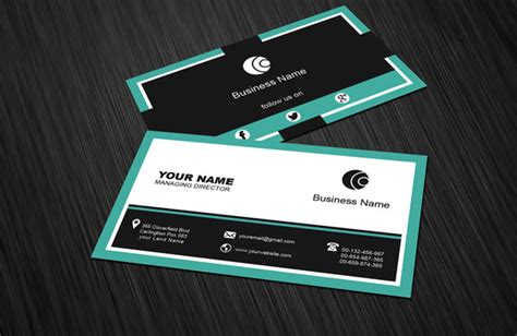 free social media business card template download