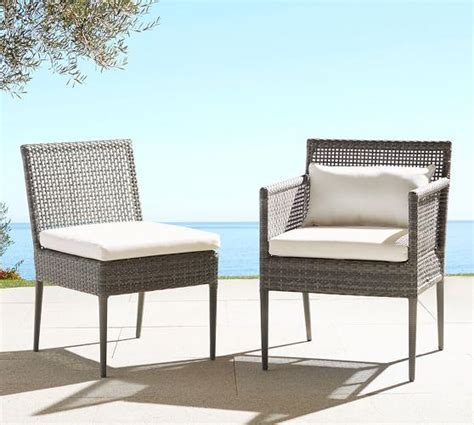All Weather Wicker Dining Chairs Gray All Weather Wicker Dining Chairs