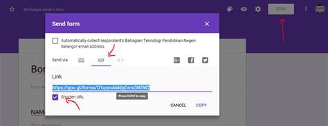 buat borang google form  qr code digital classroom