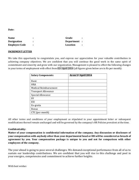 Average Salary Increase Form Mba Liftime by Increment Letter Format