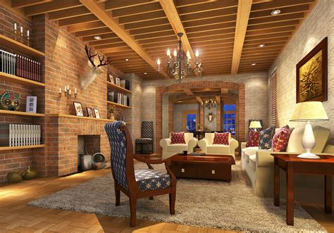 brick house interior brick walls 3d house