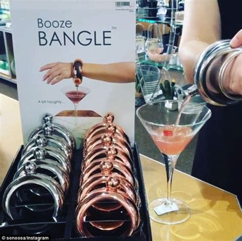 Booze Bangle which holds 100ml of alcohol goes viral   Daily Mail Online