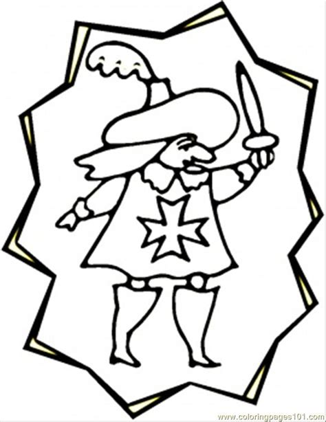 coloring pages little musketeer countries gt france