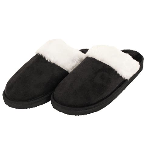 furry house slippers womens furry slippers faux suede fur cozy fuzzy house