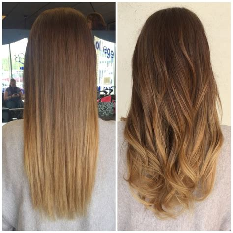 blonde balayage highlights straight hair straight wavy blonde balayage ombre tresses pinterest
