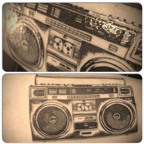boombox tattoo designs blaster s