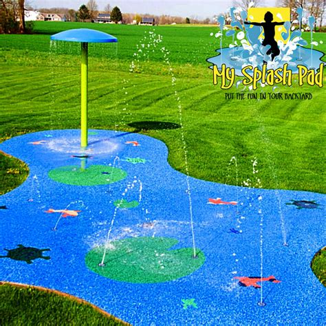 how to build a backyard splash pad water play splash pad spray park safety surface my