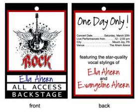 Backstage Pass Template by Backstage Pass Template