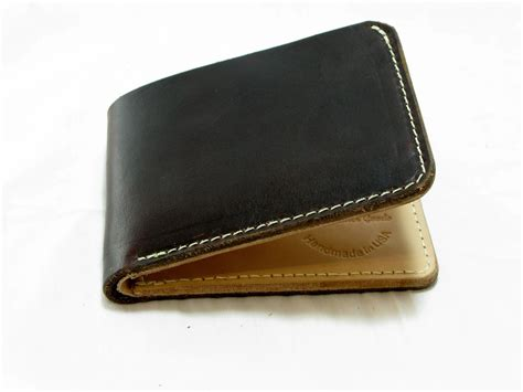 Handcrafted Leather Wallet - custom handmade leather billfold wallet classic by jaw