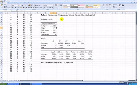 data analysis excel mac regression college resume best