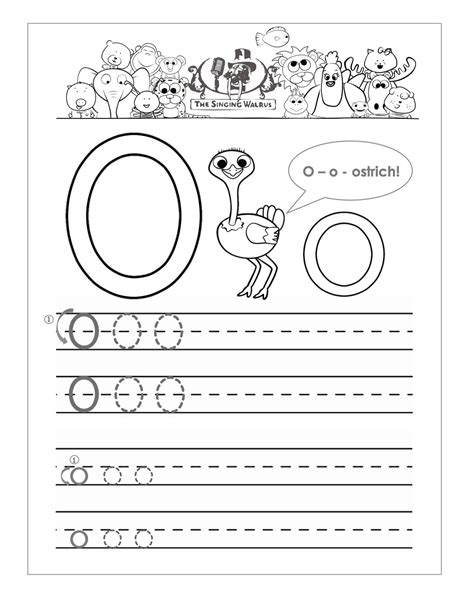 worksheet alphabet o letter o worksheet for kids loving printable