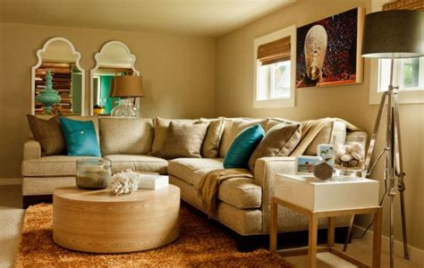 retro inspired coral and aqua living room color palette decorating with turquoise colors of nature aqua exoticness