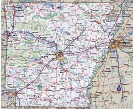 highway map with cities maps of arkansas state collection of detailed maps of
