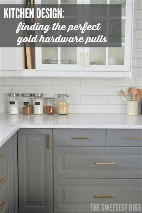 matte gold cabinet hardware designing a kitchen heres how we found the gold