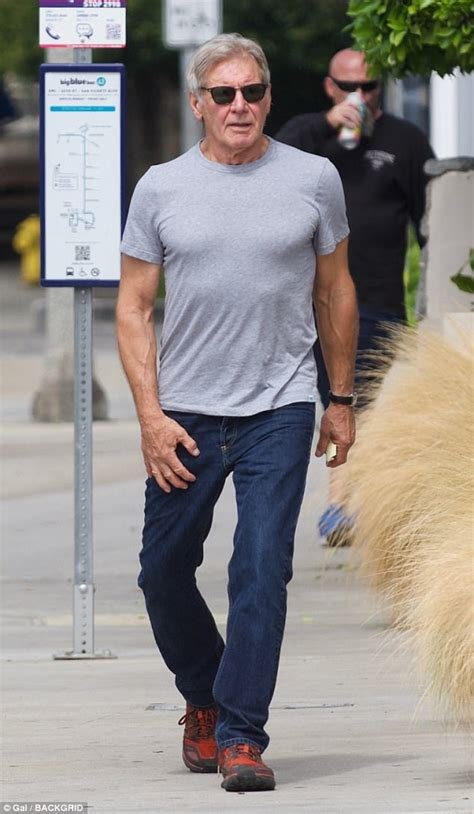 harrison ford tshirt harrison ford runs errands in t shirt and in la