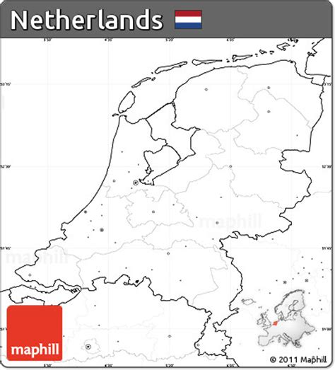 netherlands map blank free blank simple map of netherlands no labels
