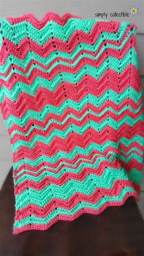 chevron baby blanket free crochet pattern from red heart yarn giveaway and what s next at simplycollectiblecrochet