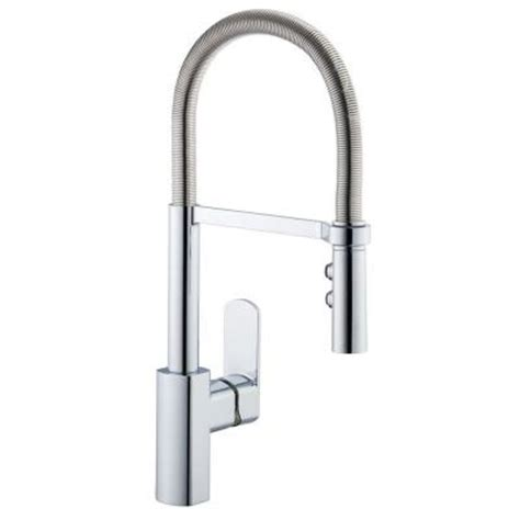 Pegasus Kitchen Faucet Pegasus 1250 Series Neck Single Handle Pull Sprayer Kitchen Faucet In Stainless