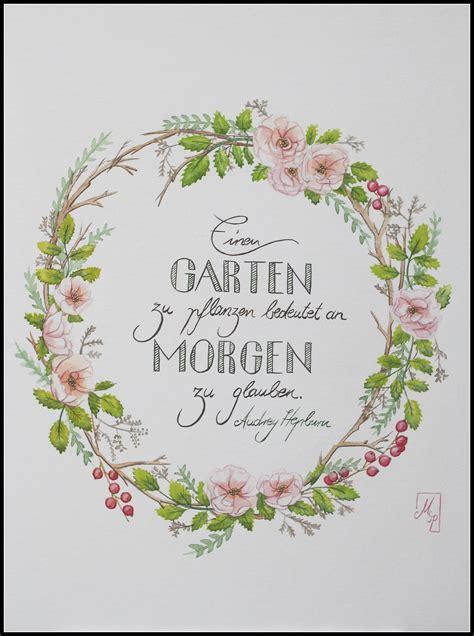 Einen Garten Zu Pflanzen by Handlettering Federf 252 Hrend
