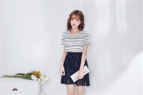 Midi Dress Korea Berkualitas mayuki womens 2 in 1 midi skater dress with stripe top japanese korean fashion ebay