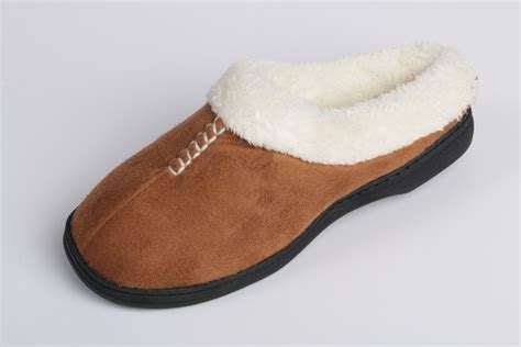 womens fleece slippers beverly rock womens stitched faux suede fleece lined clog