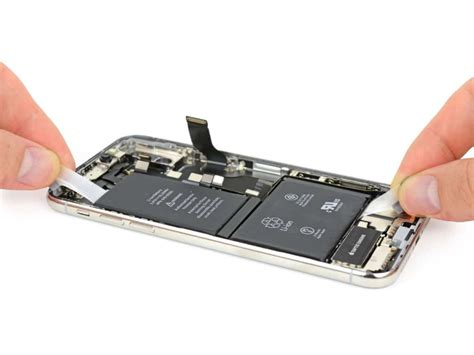iphone battery iphone x teardown reveals stacked logic board dual cell battery 3gb ram and 2716mah battery