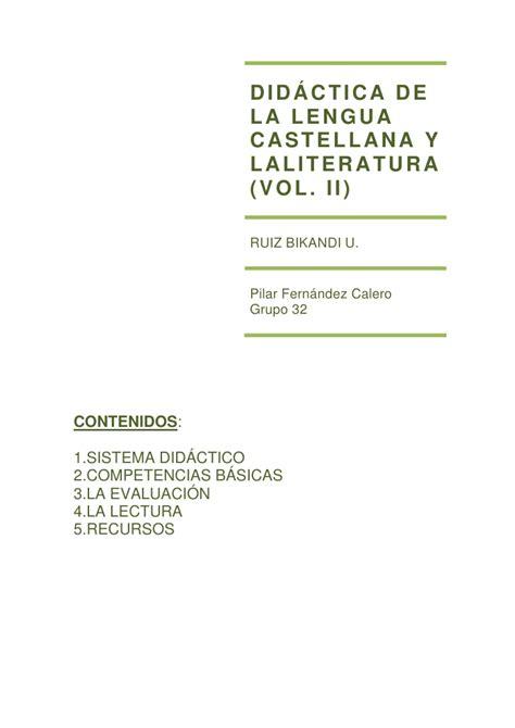 superpixpolis lengua castellana y did 225 ctica de la lengua castellana y laliteratura