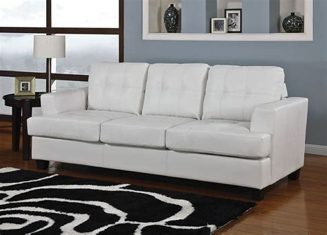 White Sofa Bed Leather White Leather Sofa Bed