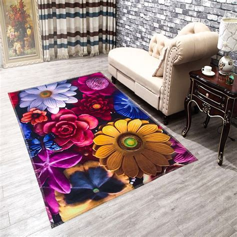 HUGSIDEA 60*90cm Cartoon Entrance Carpets 3D Printed
