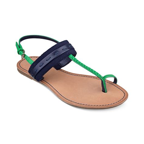 hilfiger flat shoes hilfiger flat sandals in blue marine