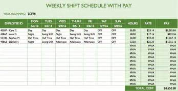 Employee Schedule Template by Free Work Schedule Templates For Word And Excel