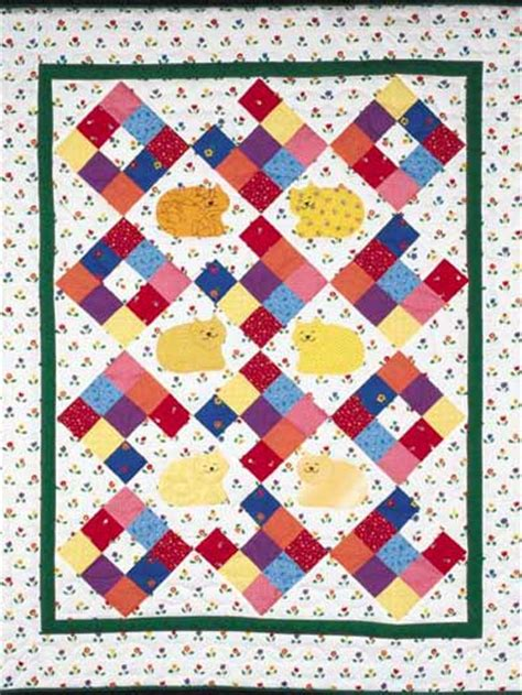 Free 9 Patch Quilt Patterns by Nine Patch Kittens Free Quilt Pattern