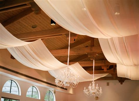 ceiling fabric draping spark creative events santa barbara