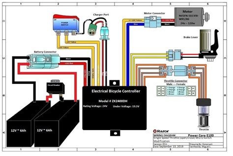razor e100 electric scooter wiring diagram wiring diagram