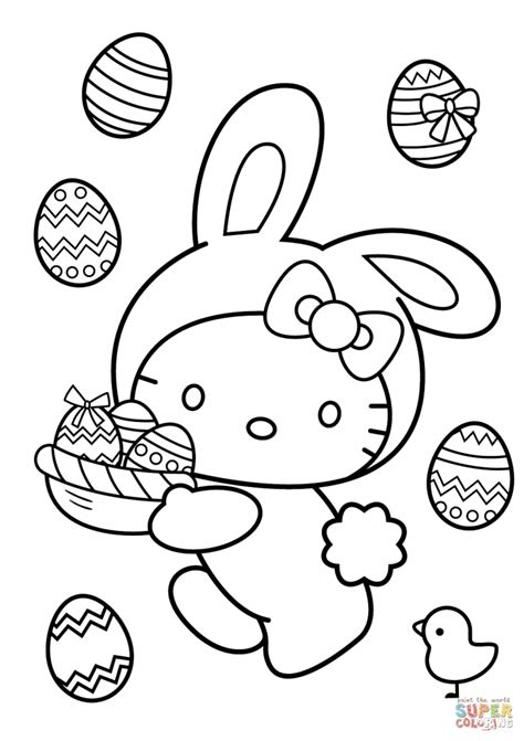 hello kitty easter coloring pages to print kitty coloring pages easter