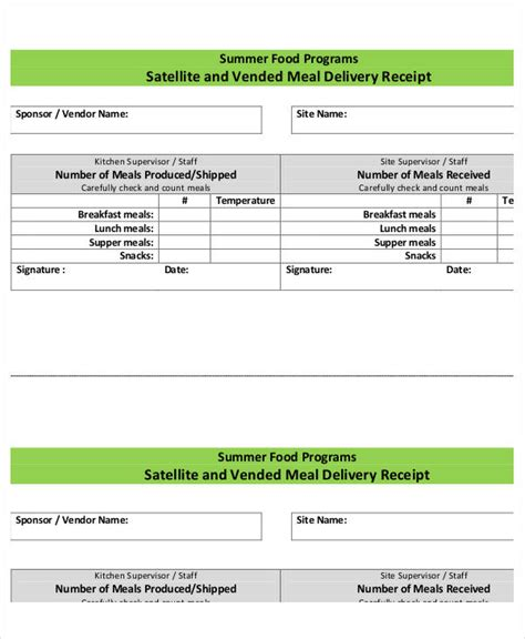 lunch receipt template 35 receipt forms