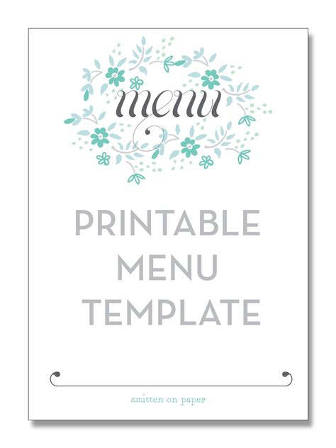 30 best of images of menu card for birthday party birthday ideas