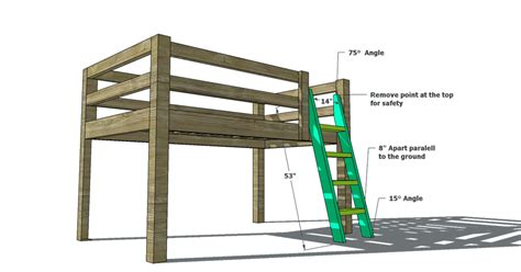 woodworking plans  build  twin  loft bunk bed