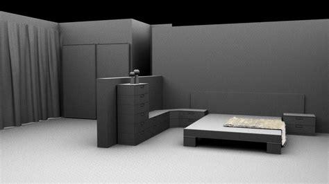 habitacion 3d habitacion moderna