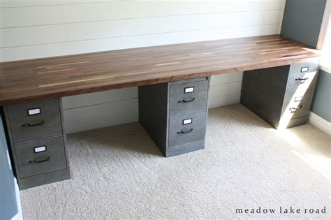 diy computer desk with file cabinet butcher block desk top butcher block desk custom desk
