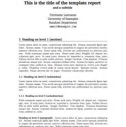 report template best photos of report writing template technical report