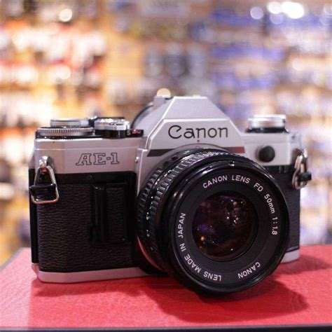 canon ae 1 price used canon ae 1 slr with 50mm f1 8 lens
