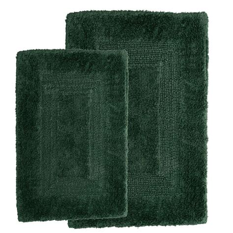 Home Depot Bath Rugs by Lavish Home Green 1 Ft 10 In X 2 Ft 11 In Cotton 2