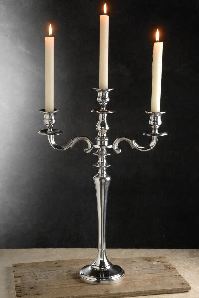 Wood Dining Room Table candelabra silver
